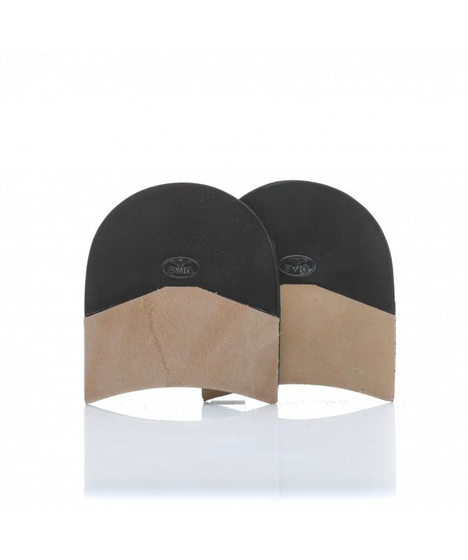 Mezzo tacco Svig in gomma e cuoio 8 mm per scarpe da uomo