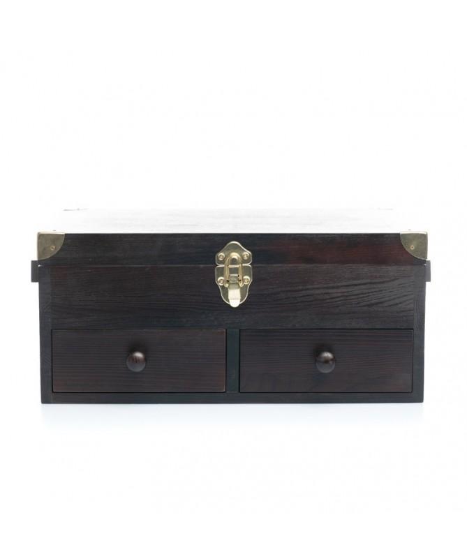 Cassetta portalucidi grande (pulizia scarpe) in legno massello