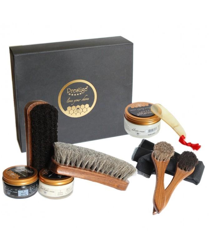 Set per pulizia completa scarpe in pelle confezione regalo | Prestige Gift Box