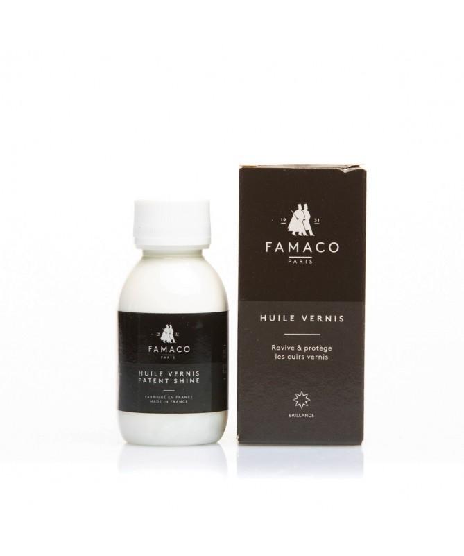 Crema delicata detergente e nutriente per scarpe e borse in pelle lucida | Famaco Huile Vernis