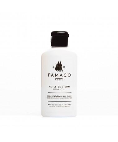 Crema neutra nutriente, ammorbidente per scarpe in pelle secca   Famaco Mink Oil