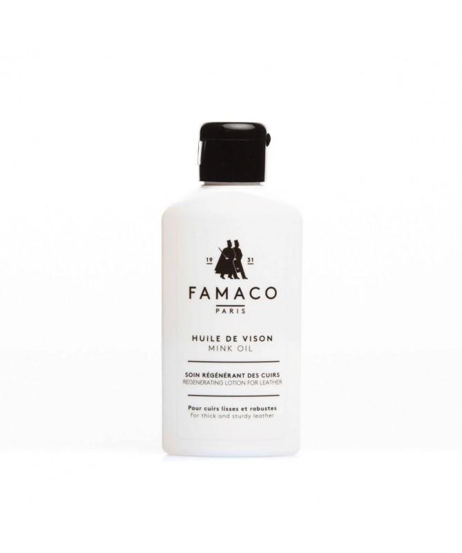 Crema neutra nutriente, ammorbidente per scarpe in pelle secca | Famaco Mink Oil
