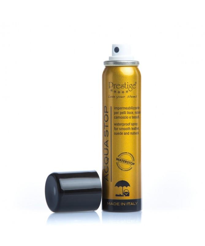 Impermeabilizzante spray anti acqua tascabile per scarpe in pelle camoscio | Prestige Acqua Stop