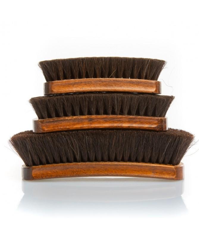 Spazzola da scarpe in crine di cavallo nera per lucidare le scarpe in pelle | Prestige Horse Hair Brush