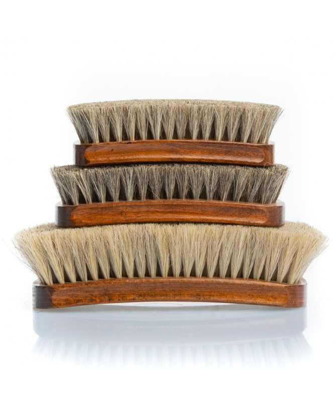 Spazzola da scarpe in crine di cavallo chiara per lucidare le scarpe in pelle | Prestige Horse Hair Brush