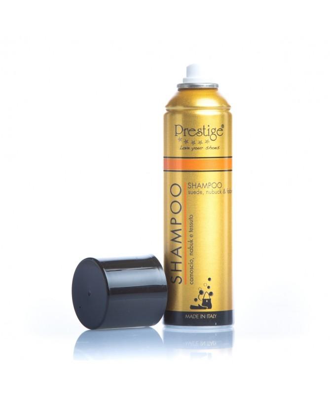 Smacchiatore spray per lavare scarpe in camoscio e tessuto | Prestige Shampoo