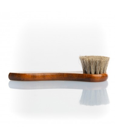 Spazzola spandi lucido chiara per scarpe in pelle in crine di cavallo antigraffio | Prestige Horse Hair Brush