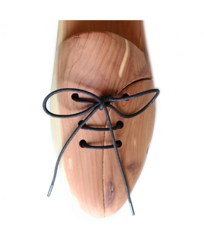 Lacci scarpe tondi in cotone cerato da 2,2 mm neri per scarpe classiche   Prestige Shoe Laces