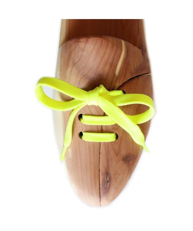 Lacci scarpe sneakers piatti giallo fluo | Prestige Shoe Laces